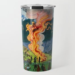 Astrup Nikolai (1880-1928) Midsummer Night Bonfire Travel Mug