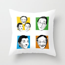 Carry On - Kenneth Williams, Sid James, Charles Hawtrey Throw Pillow