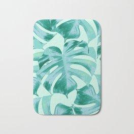 Tropical Monstera Leaves Dream #4 #tropical #decor #art #society6 Bath Mat