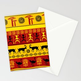 African pattern with animals. Stationery Cards