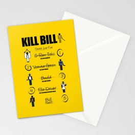 Death List Five Stationery Cards
