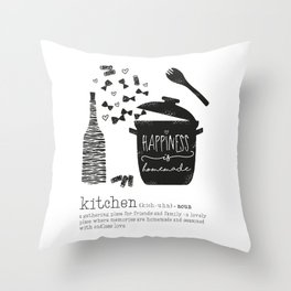 Kitchen-Love (Definition) Cooking Illustration Throw Pillow