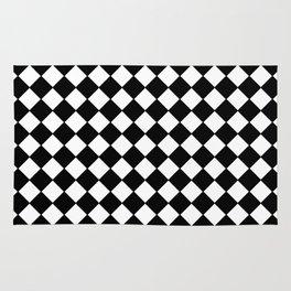 Black Checkerboard - Baby Stimulation Pattern Rug