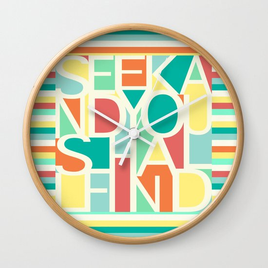 Seek Wall Clock
