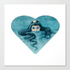 How Deep Is Your Love ? Canvas Print