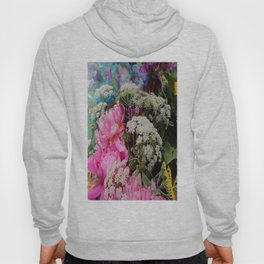 Pink Peonies & Queen Ann's Lace Bouquet Hoody