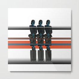 Triplet Metal Print