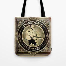 Johnny Cash Outlaw Tote Bag