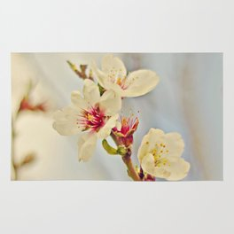 Almond Blossoms in the Wind Rug
