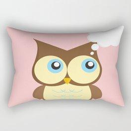 Thinking Owl Rectangular Pillow