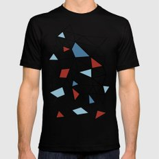 Segment Red and Blue MEDIUM Black Mens Fitted Tee