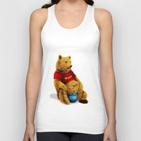 pooh Tank Tops featuring Pooh by J ō v