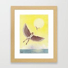 Dedalos and Ikaros Framed Art Print