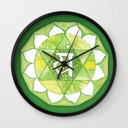 Heart Chakra Anahata Wall Clock
