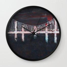Night Bridge Wall Clock