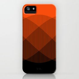 Orange to Black Ombre Signal iPhone Case