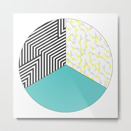 Geometric Circle Metal Print