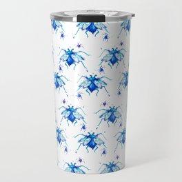 Mr. Blue pattern Travel Mug