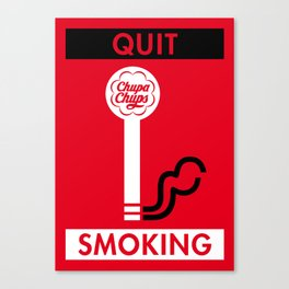 Illustrated new year wishes: #2 QUIT SMOKING Canvas Print