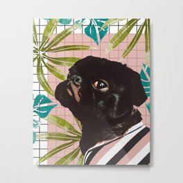 Pug on an Island Metal Print