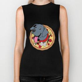 Pizza Puppy Biker Tank
