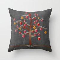 teacher Throw Pillows featuring Teacher Appreciation by My Studio
