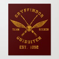 quidditch Canvas Prints featuring Abercrombie & Quidditch by spacemonkeydr