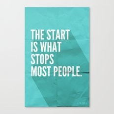 The Start Canvas Print