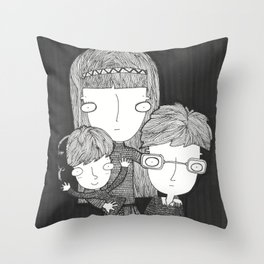 The Baudelaire orphans Throw Pillow