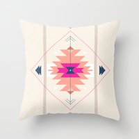 kilim Throw Pillows featuring Kilim Inspired by Nayla Smith