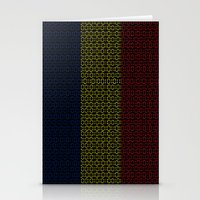 chad wys Stationery Cards featuring digital Flag (Chad) by seb mcnulty