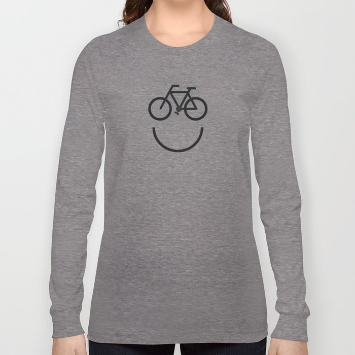 Bike face, bicycle smiley Long Sleeve T-shirt