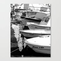 boats Canvas Prints featuring boats by habish