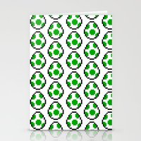 yoshi Stationery Cards featuring Yoshi Eggs by Rebekhaart