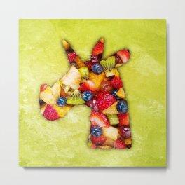 Unicorn Fruit Salad Metal Print