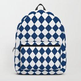 Galaxy Blue Modern Diamond Pattern Backpack