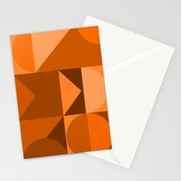 Desert Vibes Geometric Shapes in Terracotta and Burnt Orange Stationery Cards