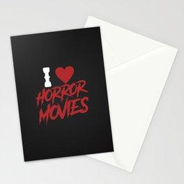 I love horror movies Stationery Cards