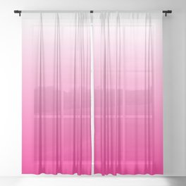Hot Pink Ombre Sheer Curtain