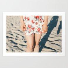 Flower Dress Art Print