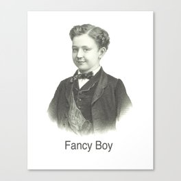 Fancy Boy Canvas Print