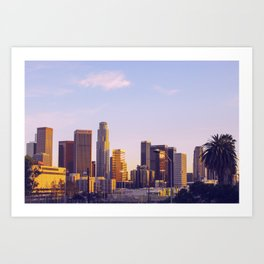 Sunset Over Downtown Los Angeles Art Print