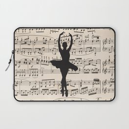 ballerina art, music Notes , girls nursery art, ballerina décor , girls nursery art , Laptop Sleeve