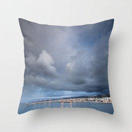 Port of Rethymno Throw Pillow
