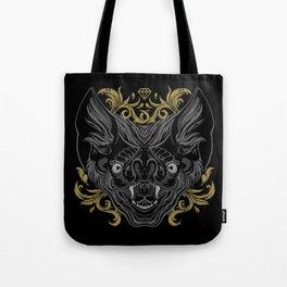 Ornamental Bat Head Tote Bag