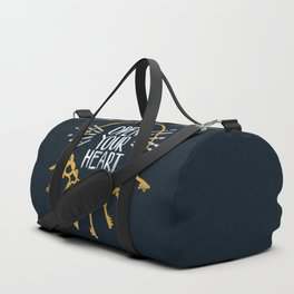 Open Heart - Dark Background Duffle Bag