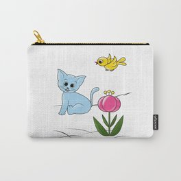 Smiling Cat Carry-All Pouch
