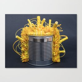 I Can : Energy (Yellow) | Abstract Sculpture by Stephanie Kilgast Canvas Print