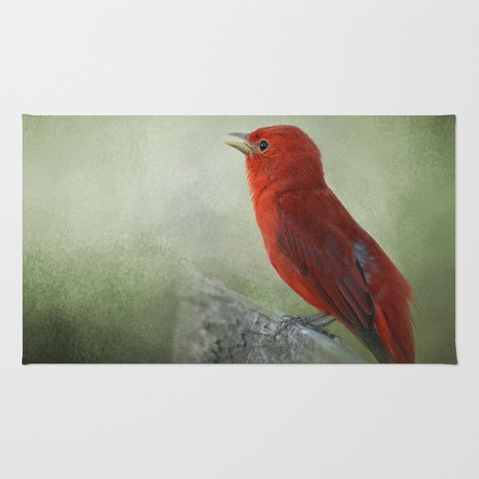 Song of the Summer Tanager 3 - Birds Rug