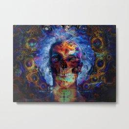 PSYCHEDELIC SKULL Metal Print